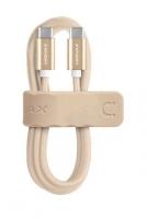 Кабель плетеный USB Type-C/USB Type-C MOMAX Elite Link, золотой