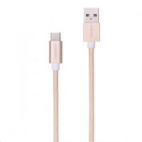 Плетеный кабель USB Type-C MOMAX Elite Link, золотой