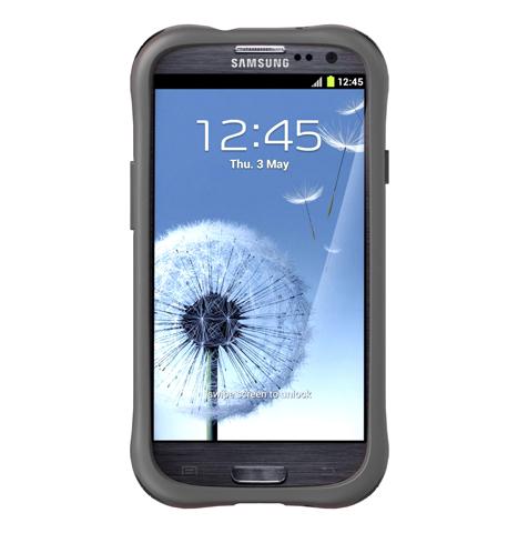 Противоударный чехол накладка для Samsung Galaxy S III Ballistic LS Series Серый
