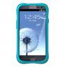 Противоударный чехол накладка Samsung Galaxy S III Ballistic LS Series Бирюзовый