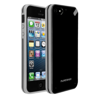 Чехол накладка Slim Shell Case для iPhone 5/5S/5SE Black