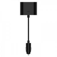 Разветвитель для прикуривателя Xiaomi Roidmi Dual Port Converter, черный