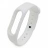 Ремешок силиконовый для фитнес трекера Xiaomi Mi Band 2, белый