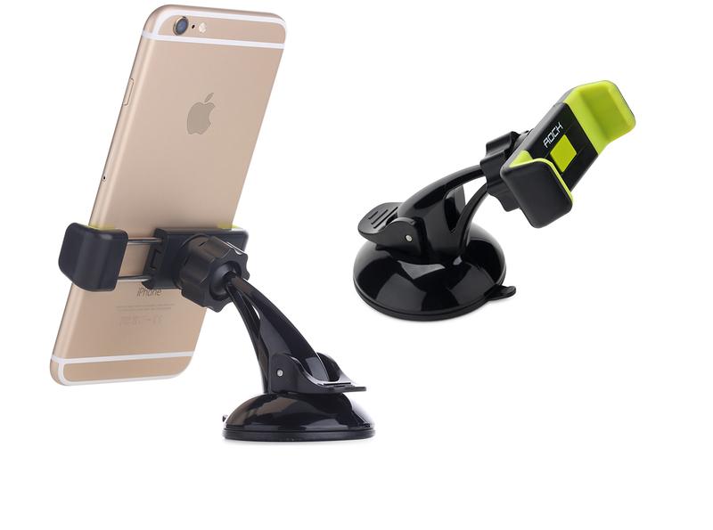 Автомобильный держатель для телефонов Rock Basic Windshield, серый
