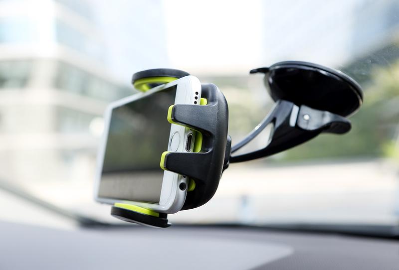 Автомобильный держатель для телефонов Rock Deluxe Windshield, серый