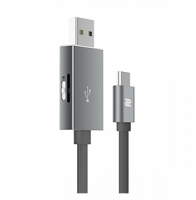 Кабель с функцией карт-ридера для MicroSD Type-C OTG, серый