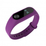 Ремешок силиконовый для фитнес трекера Xiaomi Mi Band 2, фиолетовый