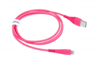 Кабель USB Lightning Momax Tough Link Cable 120 см, розовый