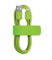 USB кабель Momax Elite Link для Apple Lightning для Apple iPhone / iPad, зеленый