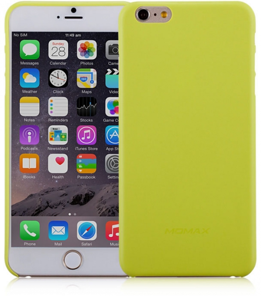 Чехол пластиковый Momax Membrane Case 0.3 mm для Apple iPhone 6 Plus, зеленый