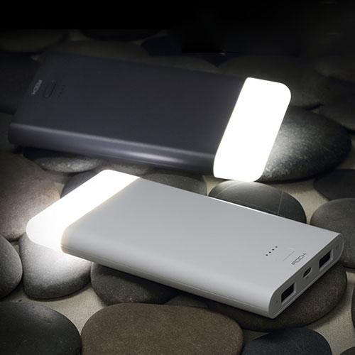 Аккумулятор внешний универсальный Rock Light Stone Series 8000mAh, белый