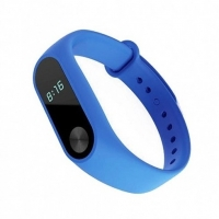 Ремешок силиконовый для фитнес трекера Xiaomi Mi Band 2,  синий