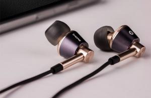 Наушники 1MORE E1001-L Triple Driver In-Ear Headphones, золотые