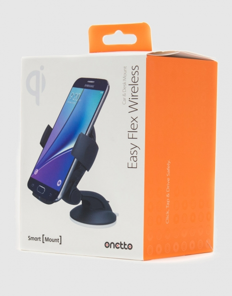 Держатель автомобильный с функцией беcпроводной зарядки Onetto Charging Car&Desk Mount Easy Flex Wireless