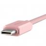 Кабель USB Type-C на USB Type-C Rock, розовый