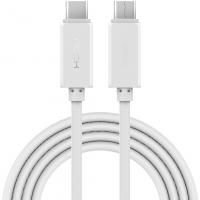 Кабель USB Type-C на USB Type-C Rock, белый