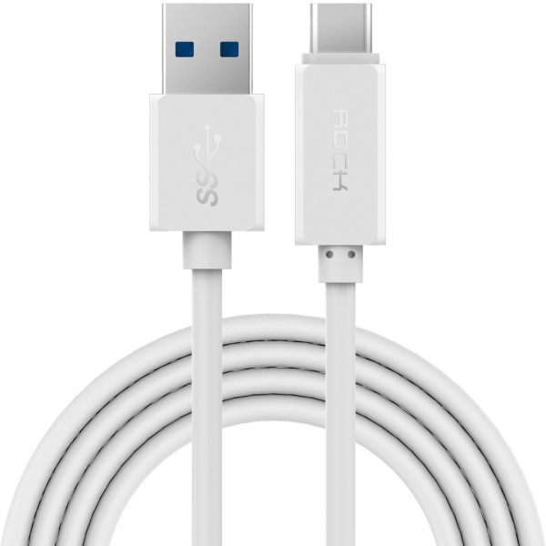 Кабель USB Type-C Rock, белый