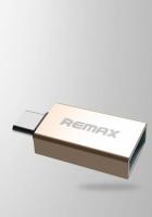 Адаптер c OTG USB на Type-C Remax, золотой