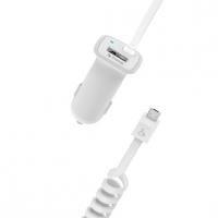 Автомобильное зарядное устройство iHave Glim 2400mA micro+USB,белое