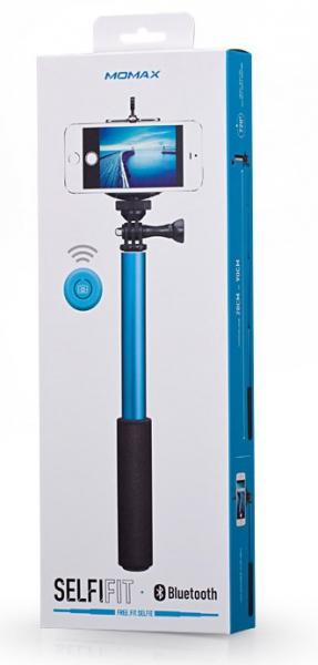 Монопод палка-штатив для селфи Momax SelfiFit - Bluetooth Selfie Pod KMS1, синий