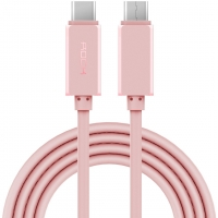 Кабель USB Type-C на USB Type-C Rock, розовый