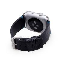 Ремешок кожаный The Core Stingrey Leather Band для Apple Watch 42мм, черный