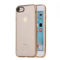 Чехол силиконовый Rock Pure Series для iPhone 7, золотой