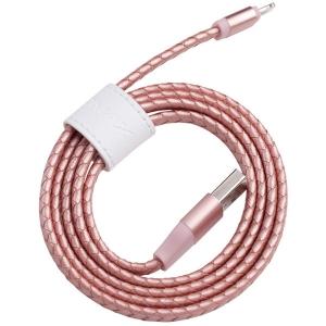 USB кабель lightning Momax Elite Link Pro MFI, 1 метр розовый