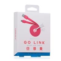 USB кабель micro Momax GO Link,1 метр розовый