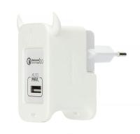 Сетевое зарядное устройство Momax U.Bull с поддержкой Quick Charge 2.0 , белое
