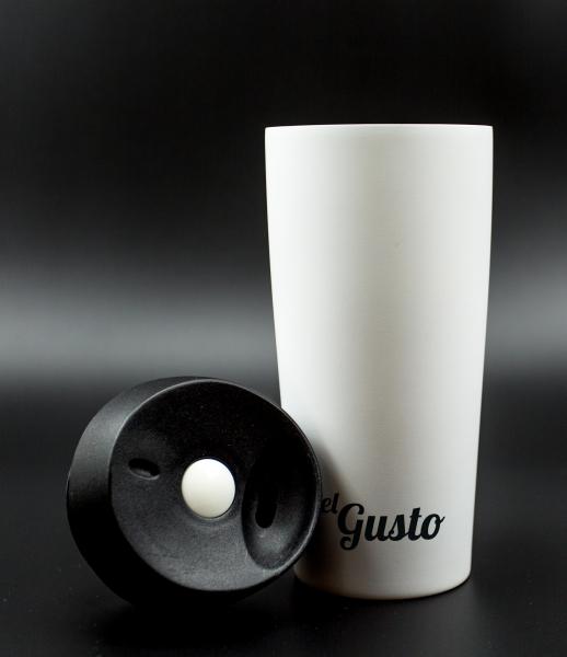 Термокружка el Gusto grano, белая 470мл