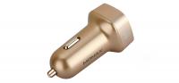 Автомобильное зарядное устройство Momax Elite Type-C Car Charger 5V/5.4A 2USB, золотое