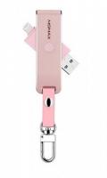 Картридер Momax Elite Lightning Card Reader MicroSD, розовый