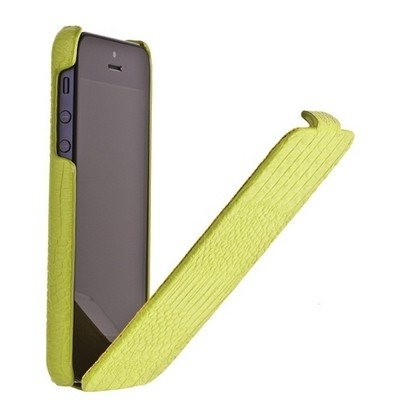 Чехол Borofone для iPhone 5/5S/5SE - Borofone Crocodile flip Leather case Apple green