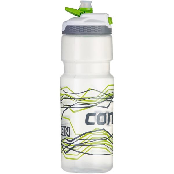 Велобутылка для воды Devon, серебристо-зеленая