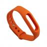 Ремешок силиконовый для фитнес трекера Xiaomi Mi Band 2, оранжевый
