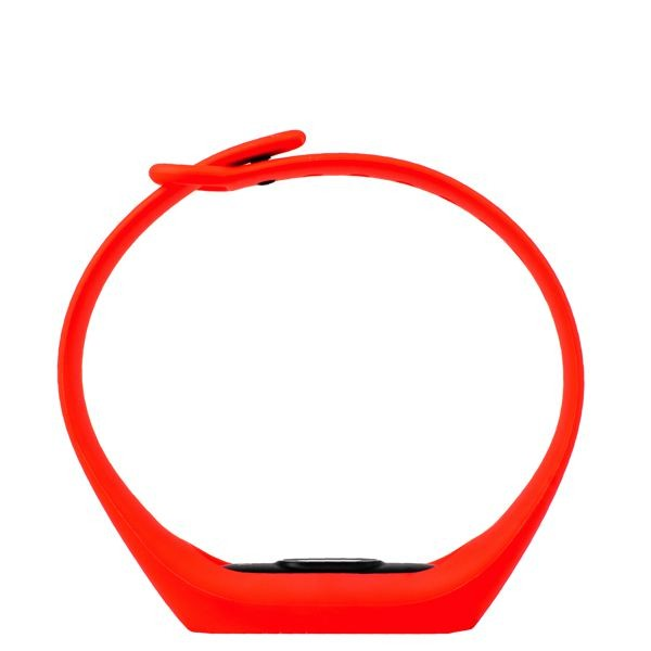 Ремешок силиконовый для фитнес трекера Xiaomi Mi Band 2, красный
