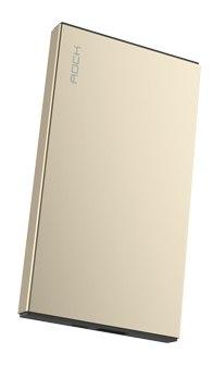 Аккумулятор внешний универсальный - Rock Stone Power Bank 5000 мАч, золотой