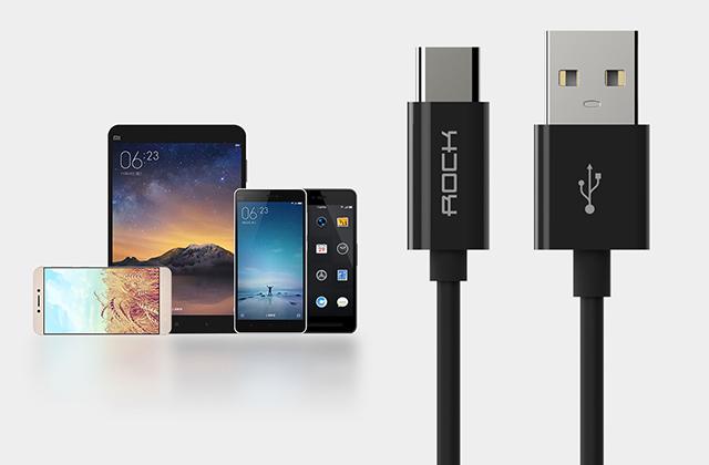 Кабель USB Type-C Rock C1, черный 180см