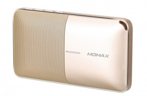 Портативная колонка-аккумулятор Momax Zonic 2 in1 Wireless Speaker Powerbank, золото