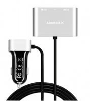 Автомобильное зарядное устройство Momax Car Charger With USB Extension Hub 5V/9.6A 4USB, серебристое