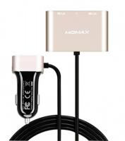 Автомобильное зарядное устройство Momax Car Charger With USB Extension Hub 5V/9.6A 4USB, золотое