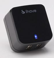 Универсальное сетевое зарядное устройство iHave Tank Travel charger на 2 USB 3.4A ,черное