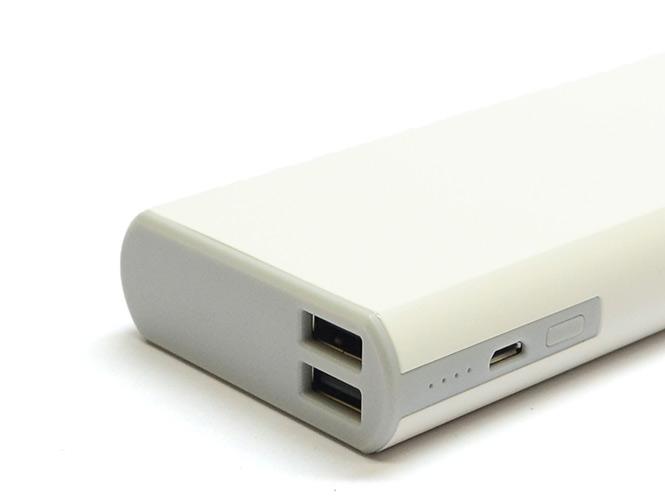 Аккумулятор внешний универсальный Rock Power Bank Cola Series 10000mAh, белый