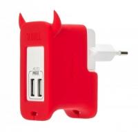 Сетевое зарядное устройство MOMAX U.Bull 2 Ports USB Charger, красный
