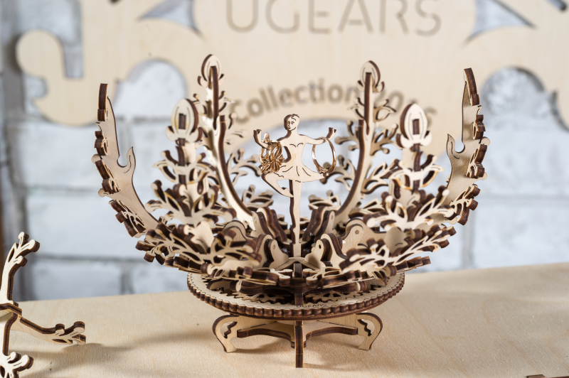 Механический 3D-пазл UGears Цветок