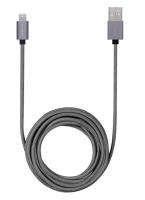 Кабель USB Lightning Momax MFI Elite Link 3 метра, серый