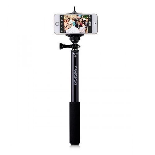 Монопод палка-штатив для селфи Momax SelfiFit - Bluetooth Selfie Pod KMS1, черный