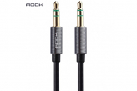 Кабель AUX 3.5mm Rock Audio Cable 2 метра, серый