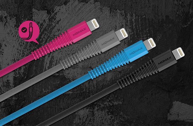 Кабель USB Lightning Momax Tough Link Cable 120 см, розовый